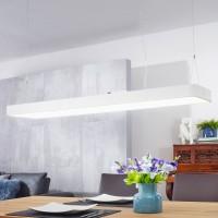 WOHNLING LED-Deckenleuchte LINE Matt weiß Metall EEK A+ Büro-Deckenlampe 64 Watt 120 x 121 x 30 cm