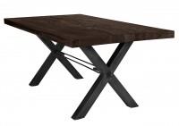 Tisch 200x100 cm, Balkeneiche carbon-grau