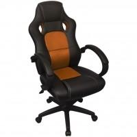 Executive Racing Bürostuhl Orange Kunstleder