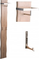 HomeTrends4You Garderobe Zürs 2 25x190x20 cm in MDF Dekor Eiche