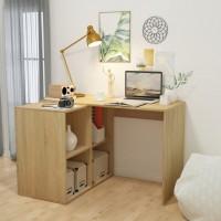 Schreibtisch mit Regal 117 x 92 x 75,5 cm Eiche Optik