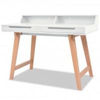 Schreibtisch MDF Buchenholz 110 x 60 x 85 cm Weiß