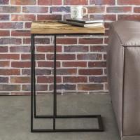 WOHNLING Beistelltisch BELLARY 31x70x46 cm Massivholz Tisch mit Metallgestell