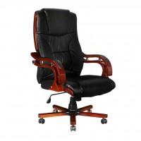 Bürostuhl Chefsessel Luxus PROFI Leder schwarz