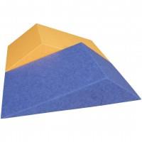 AMSTYLE 3D Akustik-Wandpanel CALM 60,5x30,5x15cm Schalldämmung Blau mit Stoffbezug