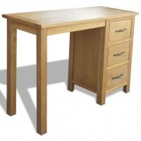 Schreibtisch mit 3 Schubladen Eiche 106×40×75 cm