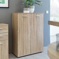 WOHNLING Kommode SVENJA mit 2 Türen 71x104x35cm Mehrzweckschrank Holz Sonoma