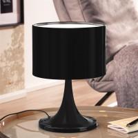 WOHNLING Design Tischleuchte TILA Metallschirm-Lampe Nachttischlampe hochglanz