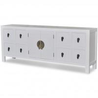 Holz-Sideboard Asiatisches Design 8 Schubladen 2 Türen