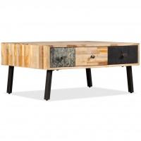 Couchtisch Recyceltes Massivholz Teak 90 x 65 x 40 cm
