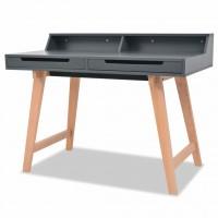 Schreibtisch MDF Buchenholz 110 x 60 x 85 cm Grau