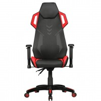 AMSTYLE® GamePad - Gaming Chair aus Kunstleder / Mesh in Schwarz / Rot