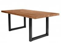 Tisch 220x100 cm, Balkeneiche natur