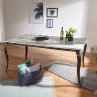 WOHNLING Esstisch LINA Massivholz Shabby Chic 180x77x90 cm Esszimmertisch modern