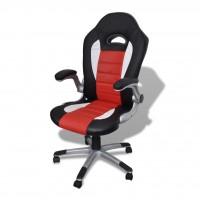Bürosessel Bürostuhl Drehstuhl Chefsessel Kunstleder Office Rot