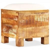 Sitzbank mit Stauraum Massives Recyclingholz 40 x 40 x 45 cm