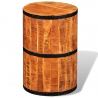 Hocker Raues Mango-Holz