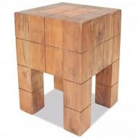 Sitzhocker Recyceltes Massivholz 28 x 28 x 40 cm