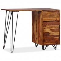 Schreibtisch mit 1 Schublade und 1 Schrank Sheesham Massivholz