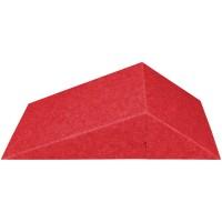 AMSTYLE 3D Akustik-Wandpanel CALM 60,5x30,5x15cm Schalldämmung Rot mit Stoffbezug