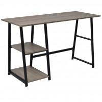 Schreibtisch mit 2 Regalen Grau und Eiche