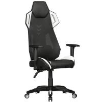 AMSTYLE® GamePad - Gaming Chair aus Kunstleder / Mesh in Schwarz / Weiß