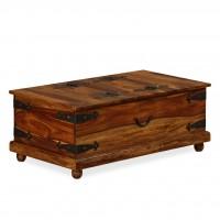 Truhe Sheesham-Holz Massiv 90×50×35 cm