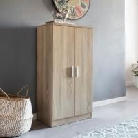 WOHNLING Schuhschrank MARTIN mit 2 Türen Sonoma 55x108x35 cm Schuhregal Holz geschlossen