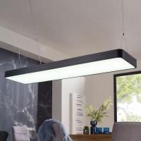 WOHNLING LED-Deckenleuchte LINE Matt schwarz Metall EEK A+ Büro-Deckenlampe 64 Watt 120 x 121 x 30 c