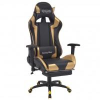 Bürostuhl Gaming-Stuhl Neigbar mit Fußstütze Gold