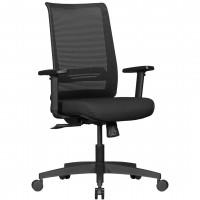 AMSTYLE Bürostuhl RENE mit Stoff-Bezug in Schwarz