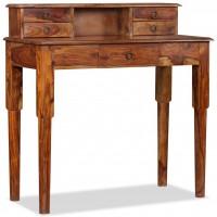 Schreibtisch mit 5 Schubladen Sheesham Massivholz 90x40x90 cm
