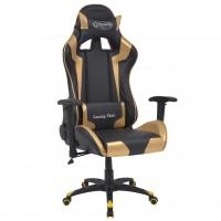 Bürostuhl Gaming-Stuhl Neigbar Kunstleder Gold