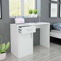 Schreibtisch mit Schublade und Schrank Weiß 100x40x73 cm