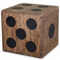 Aufbewahrungskiste Mindi-Holz 40 x 40 x 40 cm Würfel-Design