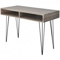 Schreibtisch mit 2 Fächern Grau