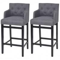 Barstühle 2 Stk. Stoff 50 x 47 x 103 cm Dunkelgrau