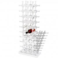 Flaschenregal für 40 Flaschen Silbern Aluminium