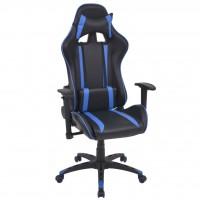 Neigbarer Racing-Bürostuhl Kunstleder Blau