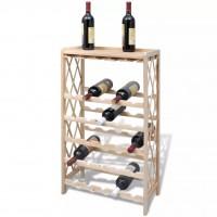 Weinregal für 25 Flaschen Holz