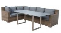 STERN® - Kufentisch 180x90 cm Edelstahl mit Tischplatte