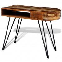 Holztisch mit Stahlbeinen recyceltes Holz