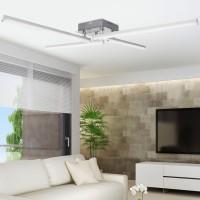 WOHNLING LED-Deckenlampe AMBAR 4-flammige Wohnzimmerlampe in Stäbchen-Design 80 cm A+
