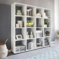 WOHNLING Design Bücherregal ZARA mit 16 Fächer Standregal 138 x 142 x 29 cm Holz Regal freistehend