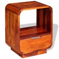 Nachttisch mit Schublade Massives Sheesham-Holz 40 x 30 x 50 cm