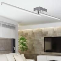 WOHNLING LED-Deckenlampe AMBAR 2-flammige Wohnzimmerlampe in Stäbchen-Design 90 cm A+