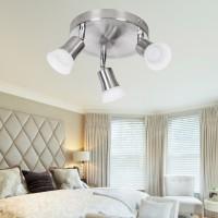 WOHNLING LED-Spot 3-flammig CLARA Deckenstrahler Dimmbar Lampe A+ Warmweiß 12 Watt