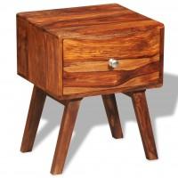 Nachttisch mit 1 Schublade 55 cm Massivholz Sheesham