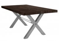 Tisch 180x100 cm, Balkeneiche carbon-grau