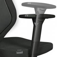 AMSTYLE Bürostuhl COLLIN mit Stoff-Bezug in Schwarz